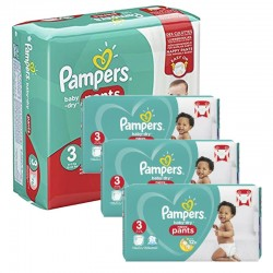 Maxi Pack 390 Couches Pampers Baby Dry Pants taille 3 sur 123 Couches