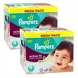 Giga Pack 840 Couches Pampers Active Fit - Premium Protection taille 4 sur 123 Couches