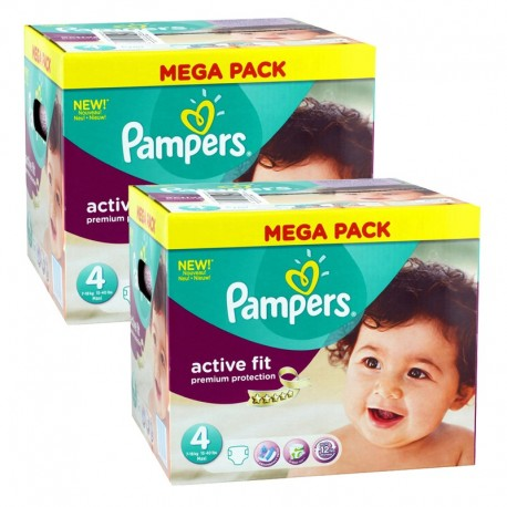 Giga Pack 840 Couches Pampers Active Fit Premium Protection taille 4 sur 123 Couches