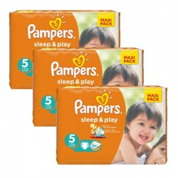 Maxi Pack 126 Couches Pampers Sleep & Play taille 5 sur 123 Couches