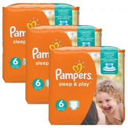 Mega Pack 120 Couches Pampers Sleep & Play taille 6 sur 123 Couches