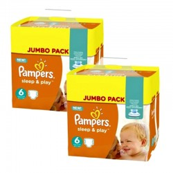 Giga Pack 210 Couches Pampers Sleep & Play taille 5 sur 123 Couches