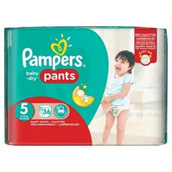 Pack 36 Couches Pampers Baby Dry Pants taille 5