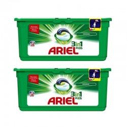 Lot de 2 Ariel Pods 28 Original 3in1 (795,2 gr) sur 123 Couches