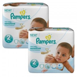 120 Couches Pampers New Baby Sensitive taille 2 sur 123 Couches