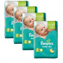 168 Couches Pampers Baby Dry taille 2