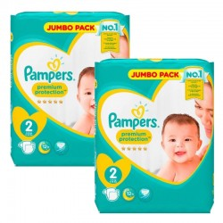 136 Couches Pampers New Baby Premium Protection taille 2 sur 123 Couches