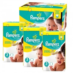Mega Pack 300 Couches Pampers premium protection taille 3 sur 123 Couches