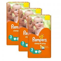 Maxi Pack 246 Couches Pampers Sleep & Play taille 3