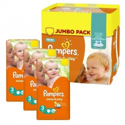 Mega Pack 328 Couches Pampers Sleep & Play taille 3