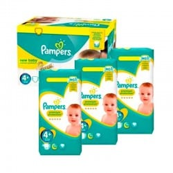 Mega Pack 434 Couches Pampers new baby - premium protection taille 4+ sur 123 Couches