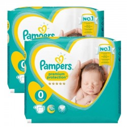 Pack 48 Couches Pampers New Baby Premium Protection taille 0