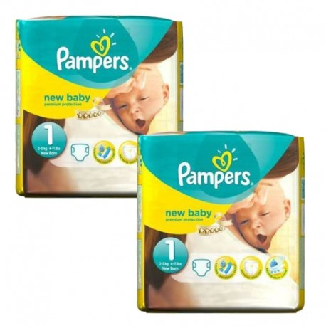 Pack 46 couches Pampers New Baby Premium Protection sur 123 Couches