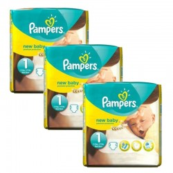 Pack 69 couches Pampers New Baby Premium Protection sur 123 Couches