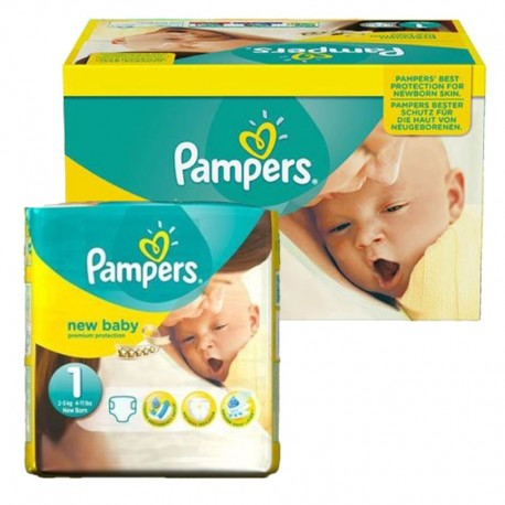 Maxi Pack 92 Couches Pampers new baby - premium protection taille 1 sur 123 Couches