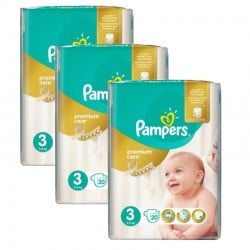 Pack 60 Couches Pampers Premium Care Prima