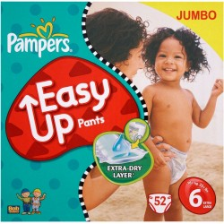 Pack 52 Couches de Pampers Easy Up taille 6 sur 123 Couches