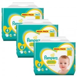 Maxi Pack 234 Couches Pampers new baby - premium protection taille 4 sur 123 Couches