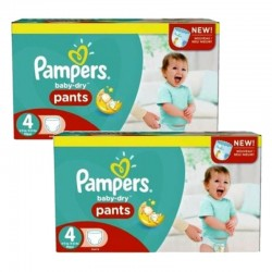 pack Jumeaux 564 Couches Pampers Baby Dry Pants taille 4 sur 123 Couches