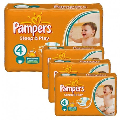 Maxi Pack 252 Couches Pampers Sleep & Play taille 4 sur 123 Couches