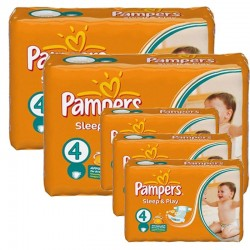 Maxi Pack 324 Couches Pampers Sleep & Play taille 4 sur 123 Couches