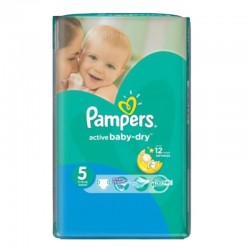 Pack 88 Couches Pampers Active Baby Dry taille 5 sur 123 Couches