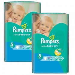 Giga Pack 176 Couches Pampers Active Baby Dry taille 5 sur 123 Couches