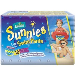 Pack 10 Couches de bains Pampers Sunnies Swim Pants taille Large sur 123 Couches