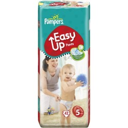 Pack 42 Couches Pampers Easy Up taille 5 sur 123 Couches