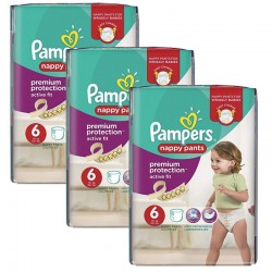 Maxi Pack 64 Couches Pampers Active Fit - Pants taille 6