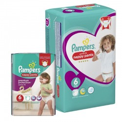 Maxi Pack 112 Couches Pampers Active Fit - Pants taille 6