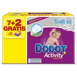 Pack économique 486 Lingettes Bébés de Dodot Activity - 9 Packs de 54