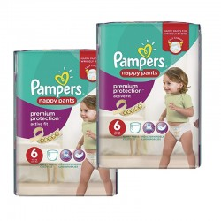 Pack 28 Couches Pampers Active Fit - Pants taille 6 sur 123 Couches