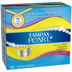 Pack de 20 Tampons Tampax Pearl taille regulier avec applicateur sur 123 Couches