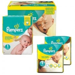 Maxi Pack 192 Couches Pampers New Baby Premium Protection taille 1