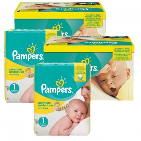 Maxi Pack 384 Couches Pampers New Baby Premium Protection taille 1 sur 123 Couches