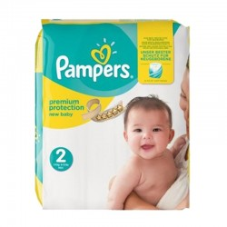 Pack 22 Couches Pampers New Baby Premium Protection taille 2 sur 123 Couches
