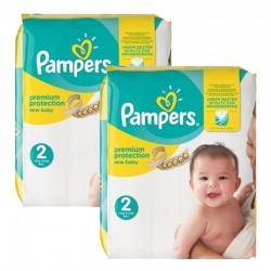 Mega Pack 88 Couches Pampers new baby - premium protection taille 2 sur 123 Couches