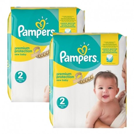 Mega Pack 88 Couches Pampers New Baby Premium Protection taille 2 sur 123 Couches