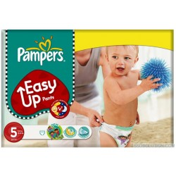 Maxi Pack 200 Couches Pampers Easy Up taille 5 sur 123 Couches