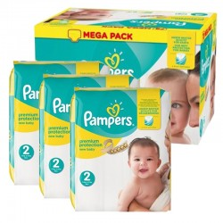 Mega Pack 220 Couches Pampers new baby - premium protection sur 123 Couches