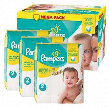 Mega Pack 220 Couches Pampers New Baby Premium Protection sur 123 Couches