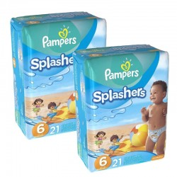 Pack 42 Couches Pampers Swimming Pants Splachers taille 6 sur 123 Couches