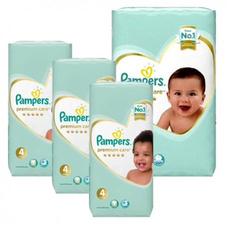 Mega pack 102 Couches Pampers New Baby Premium Care taille 4 sur 123 Couches