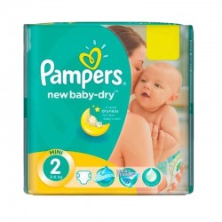 Pack 43 Couches Pampers New Baby Dry taille 2