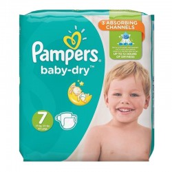 Pack 30 Couches Pampers Baby Dry taille 7 sur 123 Couches