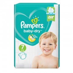Pack 72 Couches Pampers Baby Dry taille 7 sur 123 Couches