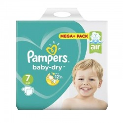 Pack 58 Couches Pampers Baby Dry taille 7 sur 123 Couches