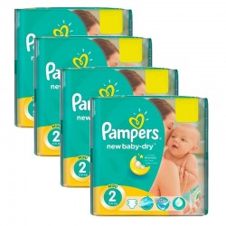 Maxi Pack 215 Couches Pampers New Baby Dry taille 2 sur 123 Couches