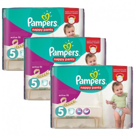 Maxi Pack 120 Couches Pampers Active Fit Pants taille 5 sur 123 Couches